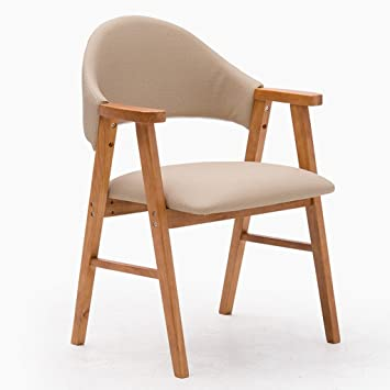ERRU Stühle Nordic Massivholz Esszimmer Stuhl Haushalt Moderne Sofa  Freizeit Büro Stuhl (52,