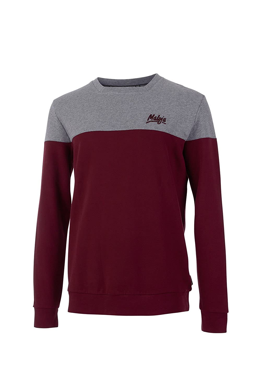 Maloja Sweater Sweatshirt Pullover Pulli ForestM. rot grau