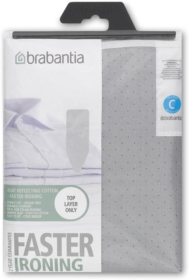 Brabantia - Funda protectora para mesa de planchar, Gris (Metallizzato), 124x45 cm, 1 unidad