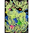 Mariposas Pegatinas Brillo Oscuridad Luminoso Fluorescente PVC Stickers Pared