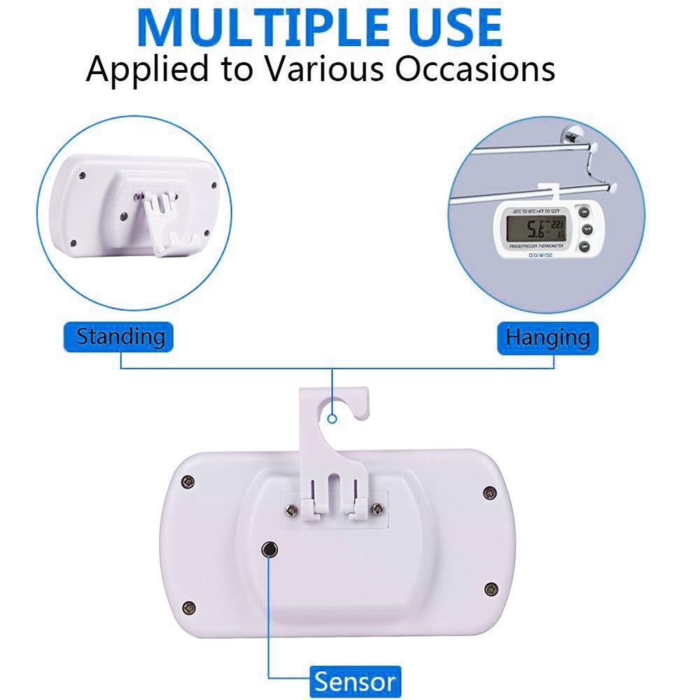 Compra Digiwise - Termómetro digital para nevera y congelador ...