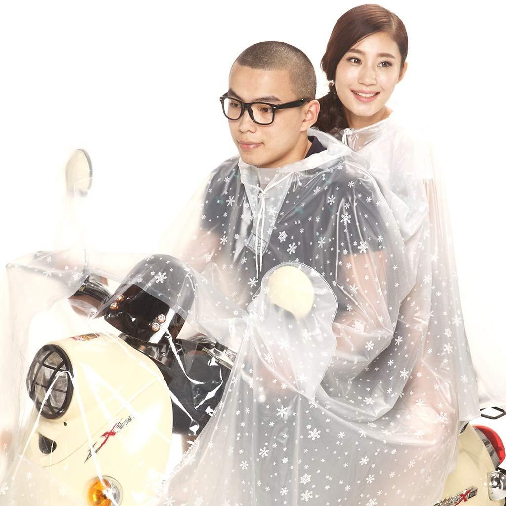 K XXXXL Cheng-poncho pluie adulte L'équitation Transparente de Chapeau d'arc-en-Ciel avec Deux Personnes a augHommesté l'épaisseur du Chapeau de Moto d'arc-en-Ciel (Couleur   H, Taille   XXXXL)