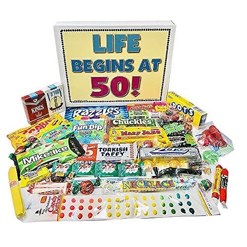 Woodstock Candy 50th Birthday Party Celebration Gift Box Of Nostalgic Retro