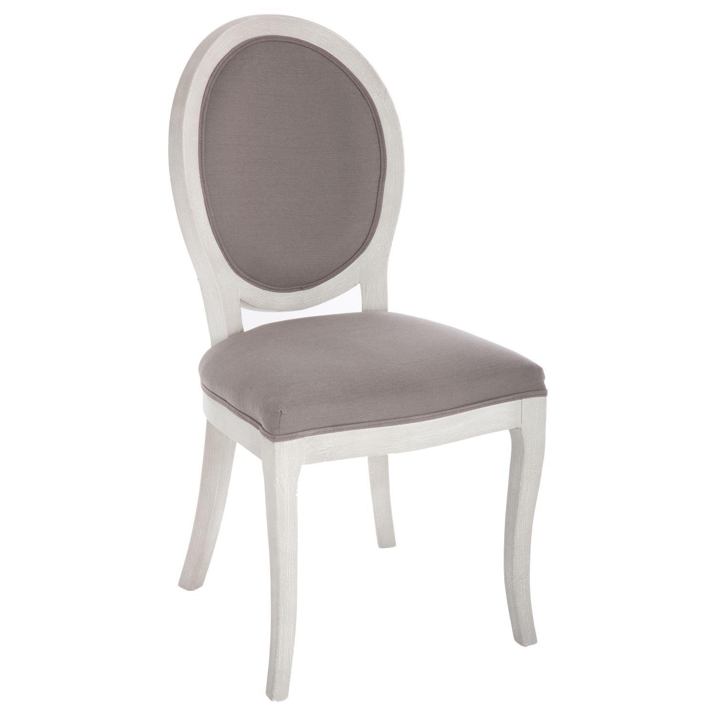 Chaise médaillon Cleon - Taupe