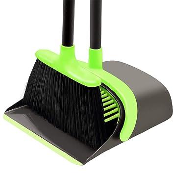 Amazon.com: Juego de escoba y recogedor de limpieza – Escoba ...