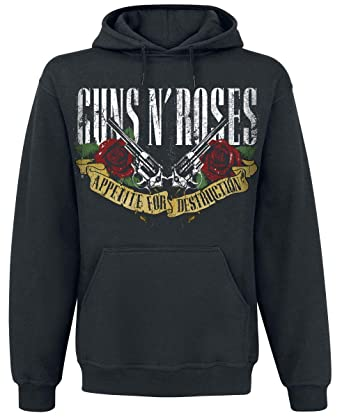 Guns N Roses Appetite For Destruction - Banner Sudadera con Capucha Negro S