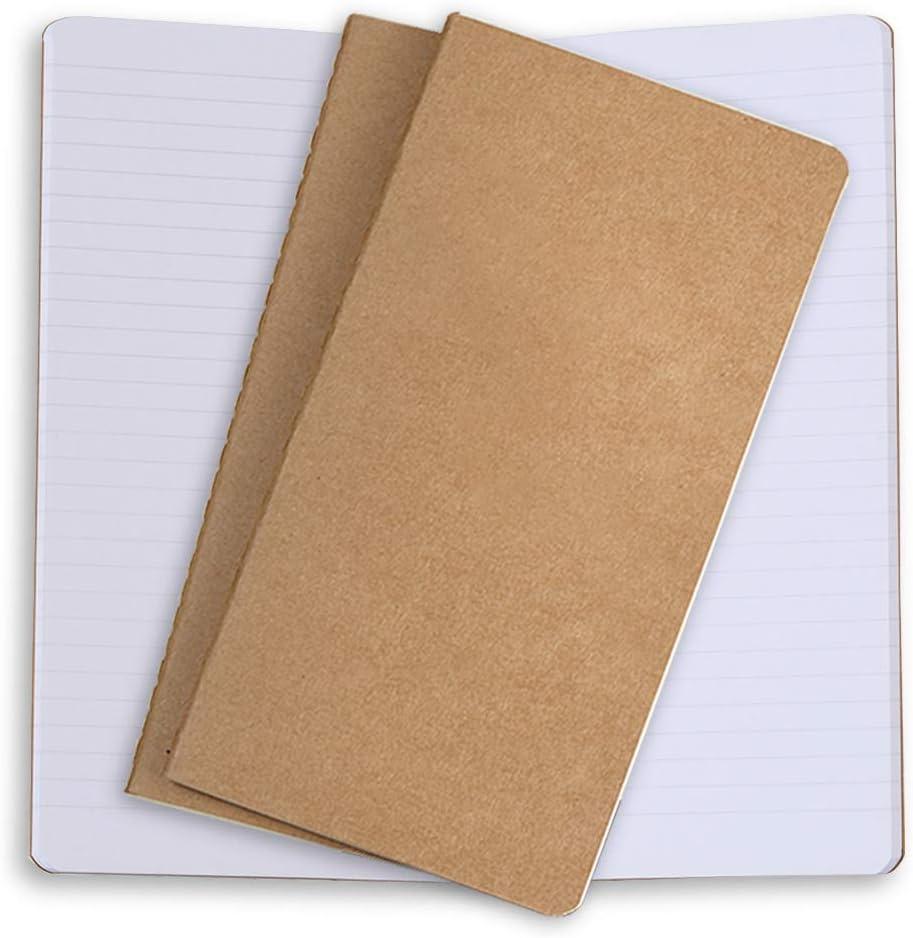 Recargas Para Cuadernos De Viajeros Vintage 21x11cm Set de 2 Repuestos de Diario de Viaje Para Diarios De Viaje Papel Hecho a Mano Antiguo Con Borde En Blanco Escritores y Grimorios de Cuero