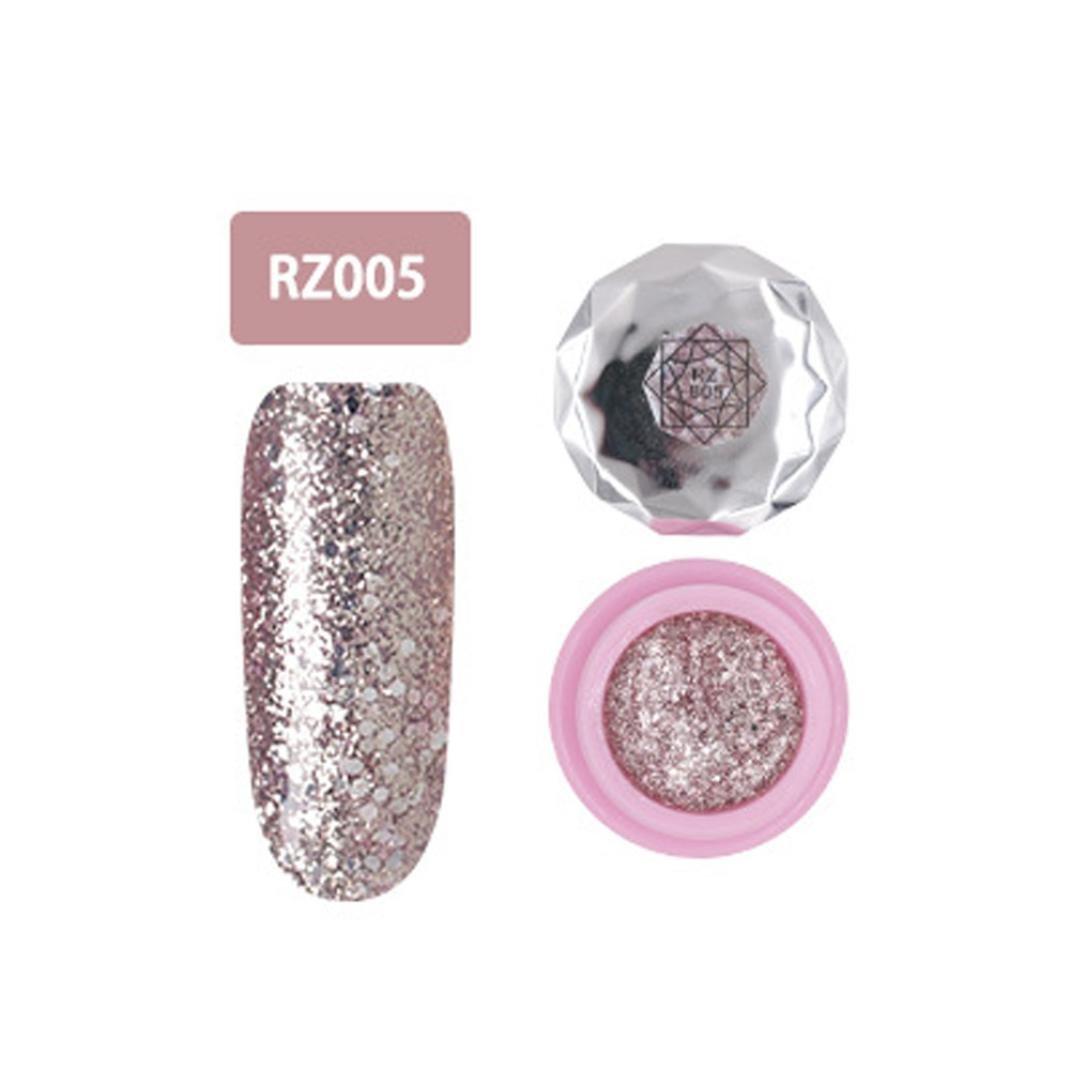 Nagel-Kunst-Gel, Jaminy 12 Farben Che Gel Nagel UV Gel Politur Absaugen Nail Art Decklack Pink Diamond FarbeGel Nagelkunst (E)