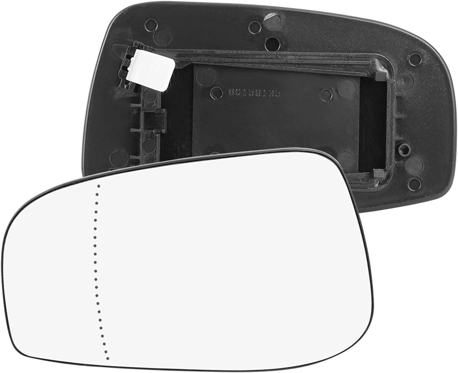 X Autohaux Espejo de cristal climatizado con placa trasera lateral espejo retrovisor para 2004-2006 VOLVO S80 S60 Accesorios (1 pieza lado izquierdo)