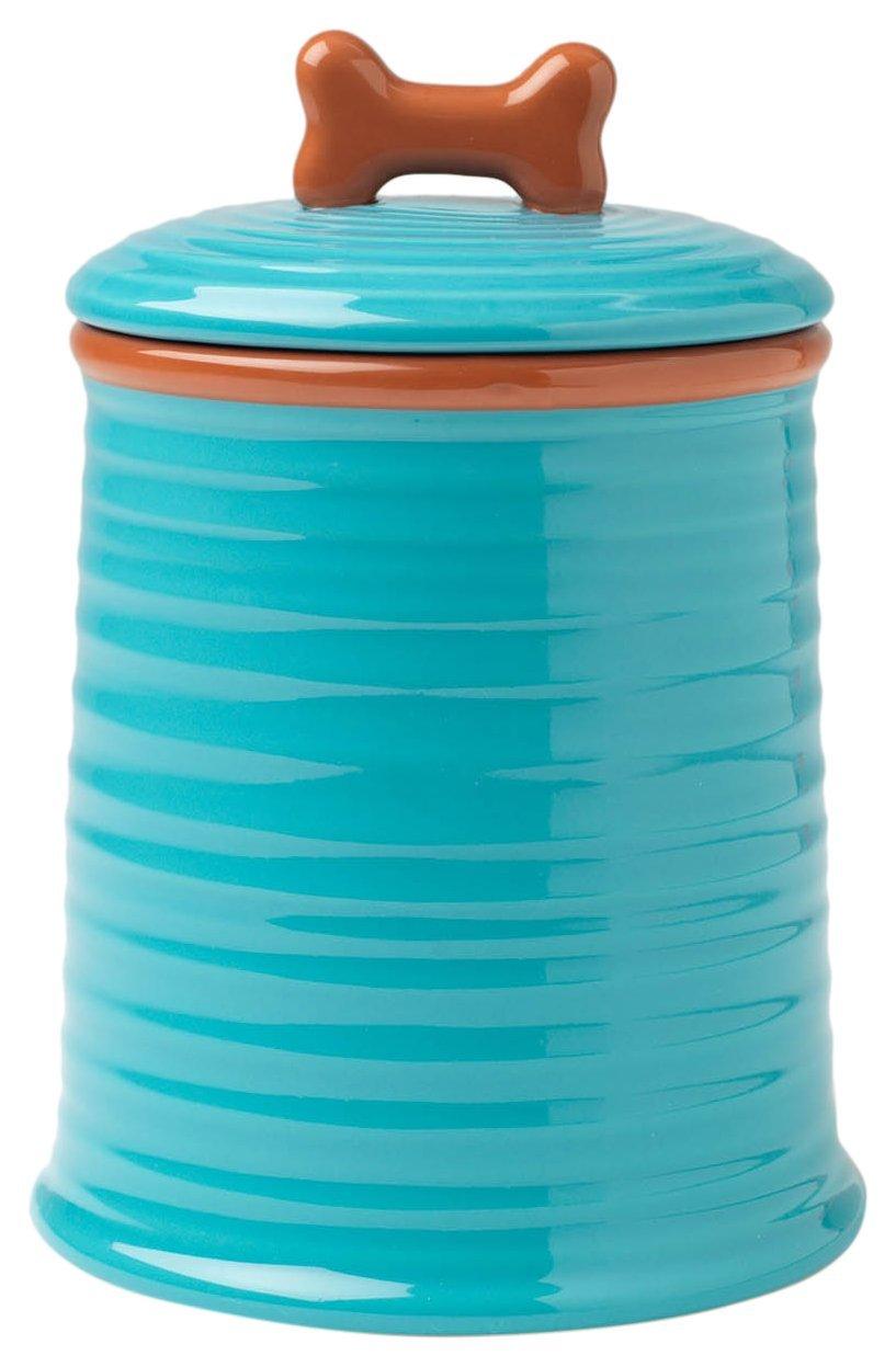 PetRageous Key West Embossed Jar, 7.5'', Aqua by PetRageous (Image #1)