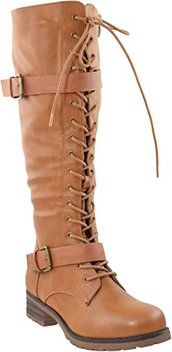 Womens Sole Diva Buckle Boot Tan 4
