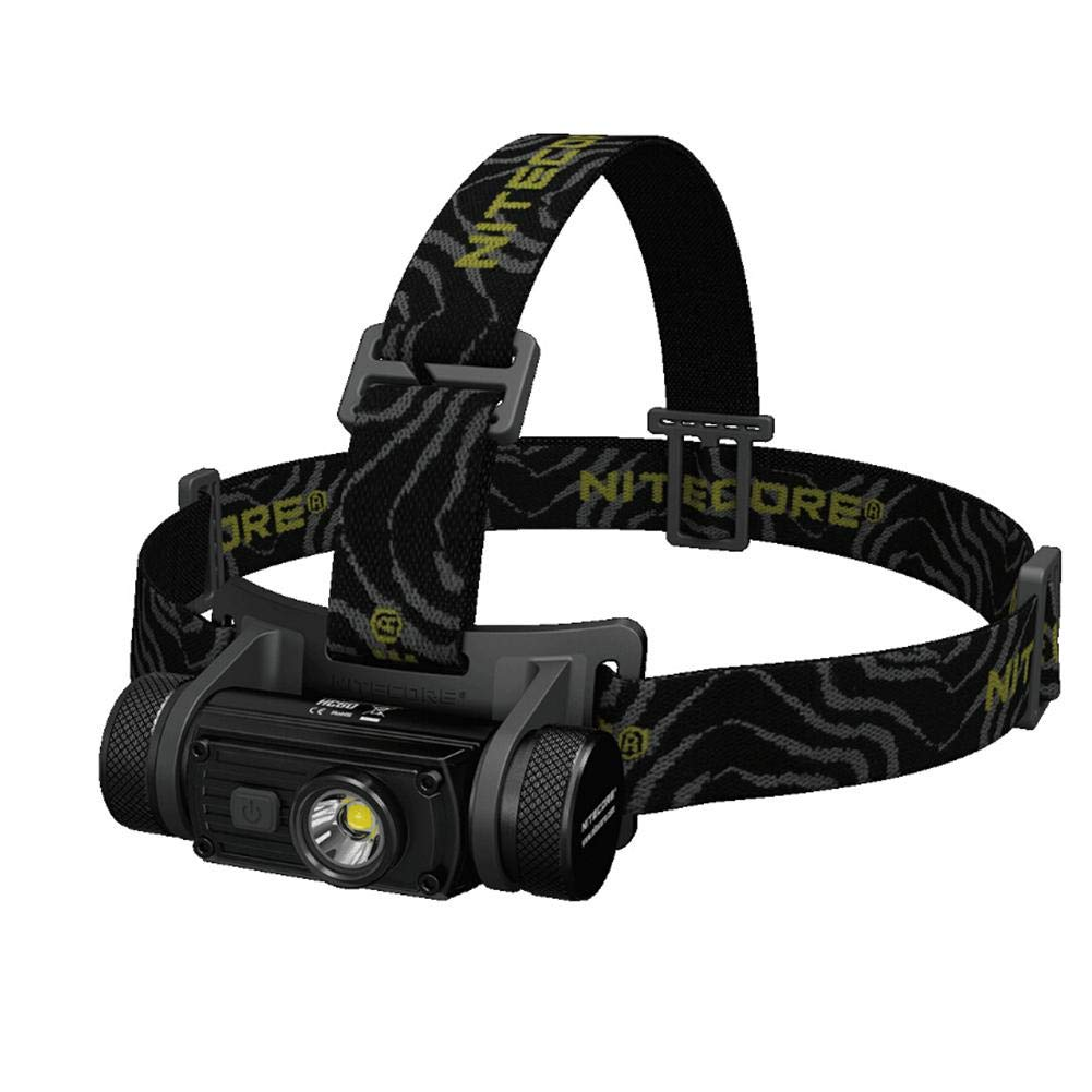 USB Rechargeable Headlamp, Nitecore HC60 1000 Lumen LED Headlamp, Glare Lightweight Headlight with 3400 mAh Rechargeable Battery Perfect for Outdoor&Camping