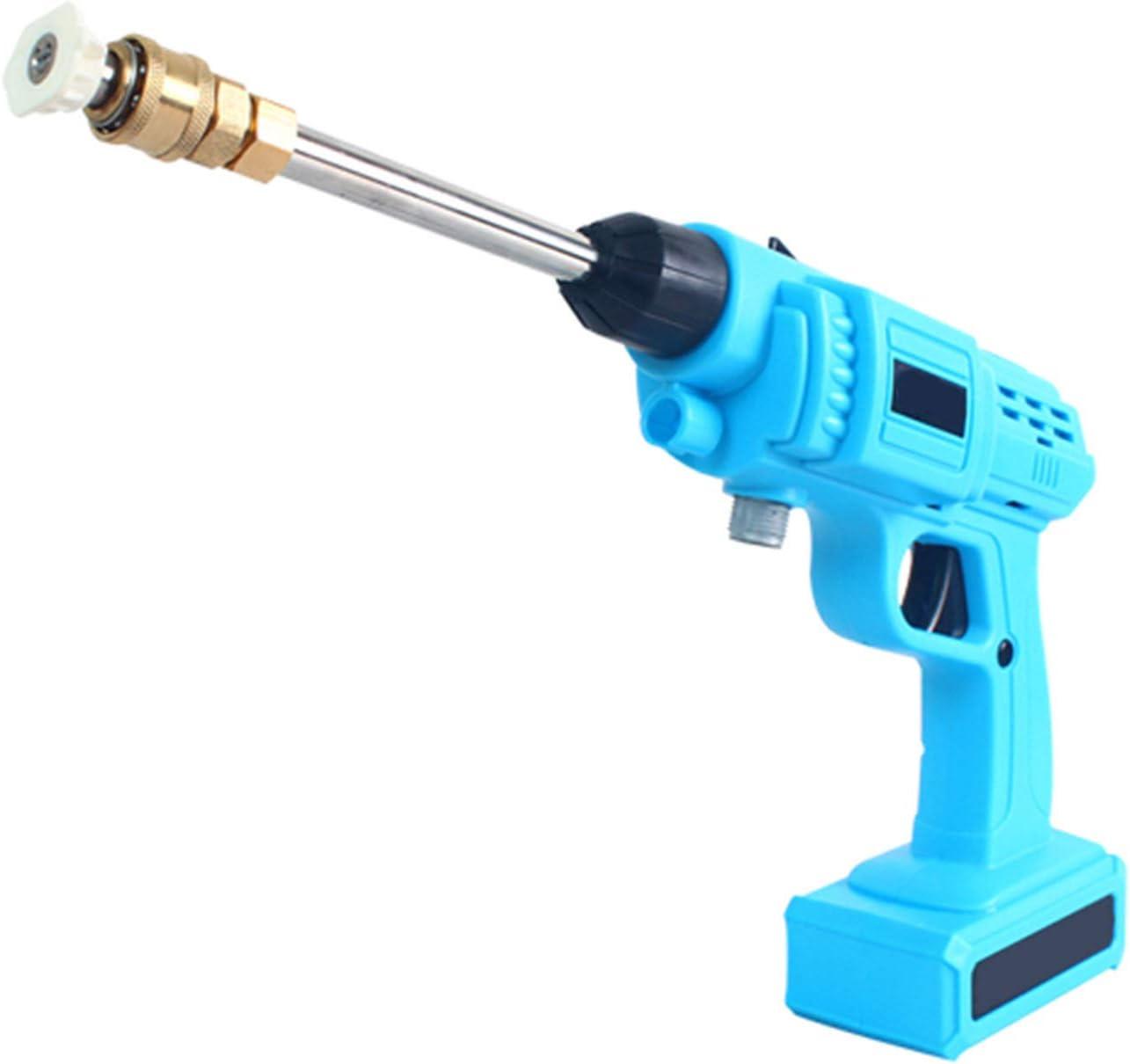 GYNFJK Lavadora de Coches inalámbrica de Alto Voltaje de 24 V, batería de Litio portátil, Pistola de Agua Recargable para Limpiar, regar y Limpiar Coches