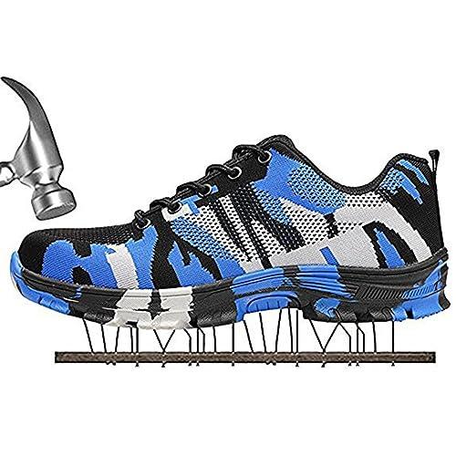 Mujer Hombre Zapatillas de Seguridad Calzado de Trabajo Punta de Acero Zapatos de Trabajo Entrenador Unisex Zapatillas de Senderismo: Amazon.es: Zapatos y ...