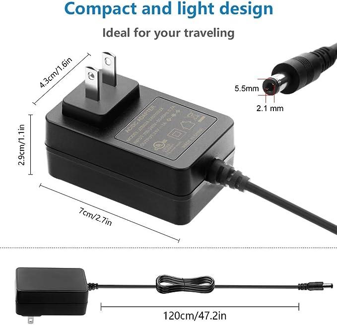 SHNITPWR Adaptador de fuente de alimentación de 24 V 1 A CC ...