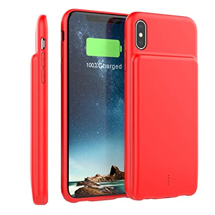 Funda iPhone XS Max Bateria, LifeePro 5000mAh Recargable Externa Portátil Batería Cargador Pack Power Bank