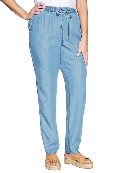 22d21c93702 Jessica London Women s Plus Size Tencel Drawstring Pants at Amazon ...