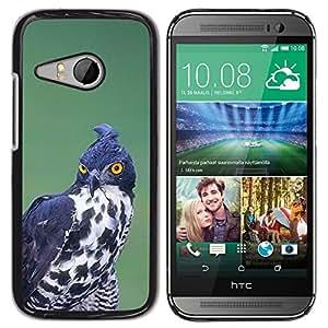 Pájaro de la presa de caza Negro Blanco Ornitología- Metal de aluminio y de plástico duro Caja del teléfono - Negro - HTC ONE MINI 2 / M8 MINI