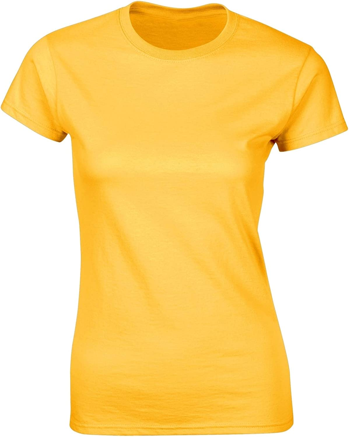 Colourful Womens Basic Pure Short Sleeve Summer Pullover Tshirt Top
