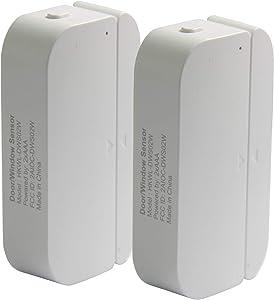Smart Door and Windows Sensor WiFi Door Open Alarm Phone APP Alert for Personal Security,Home Automation Doorbell Compatible with Alexa Google Home IFTTT,Wireless Battery Operated Door Chime 2 Pack