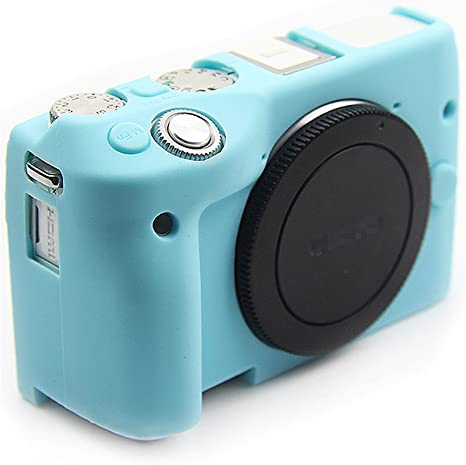 First2savvv azul cuerpo completo caucho de TPU funda estuche Silicona para cámara para Canon EOS M3 XJPT-EOSM3-GJ-03: Amazon.es: Electrónica