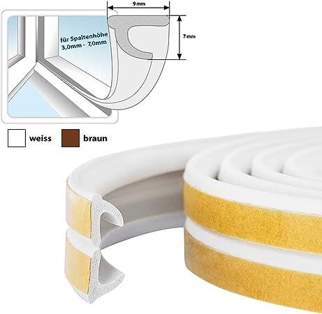 STEIGNER 30 m Joint de Fen/être Autocollant Profil V Blanc Joint en Caoutchouc EPDM Joint d/Étanch/éit/é
