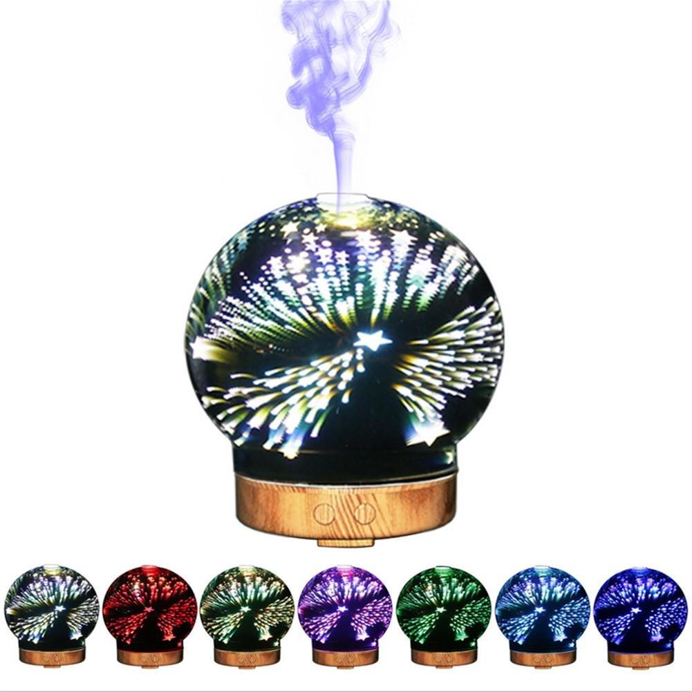 OOFAY 3D Glass Humidifier Aroma LED Night Light