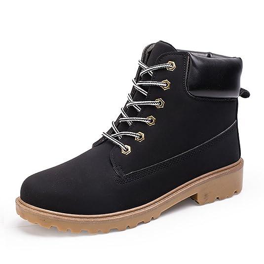 Santimon Herren Damen Leder Schnüren Sich oben Arbeit Desert Boots Stiefel Stiefeletten Outdoor Schuhe Grün 38 Np6Pfp