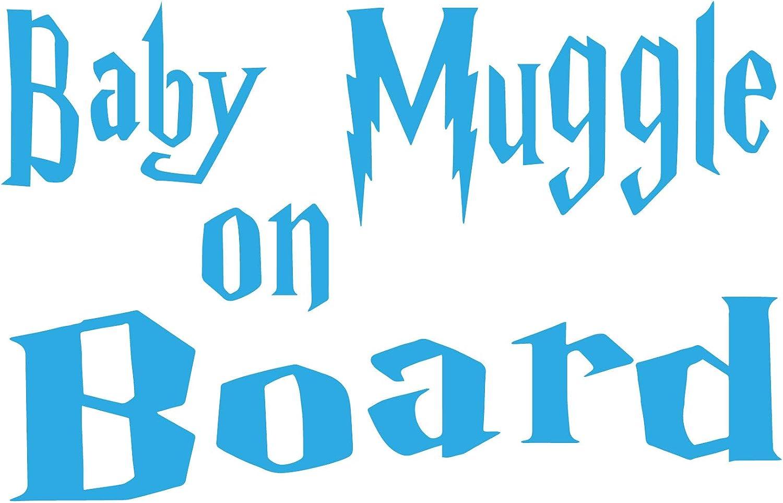 Custom Vinyl Pegatina Harry Potter Baby Muggle On Board 10x15 Amarillo