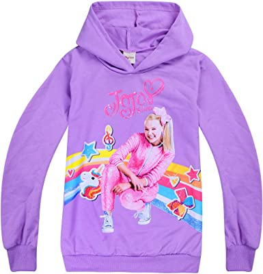 Gifts Kids Girls Children JOJO Siwa Hoodies Sweatshirts Tops T Shirt Coat 4-12Y