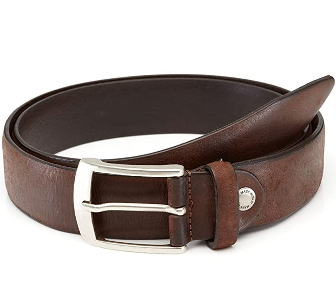 LUCHENGYI Cinturón Marrón Hombre Cuero Tachuelas Diseñado Cinto de . fccd713ae84f