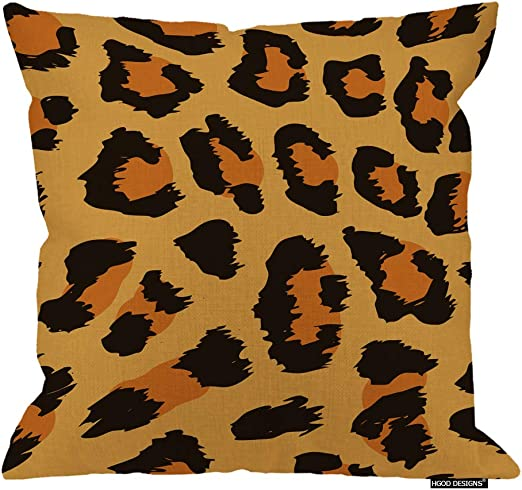 Set of 2 Cushion Covers Pillows Shells Leopard Animal Skin Home Car Decor 18x18/""