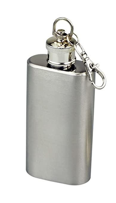 SE HQ149-2 2 oz. Stainless Steel Keychain Flask