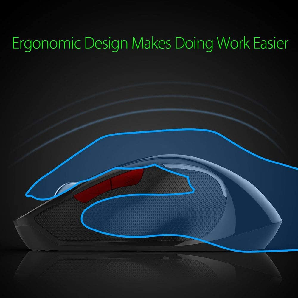 LXYLQ Wireless Mouse 2400Dpi Office Game Bluetooth 3.0 Wireless Gaming Mouse