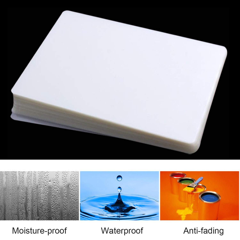 Winthai Fogli di Laminatore di Carta in Plastica Trasparente per Laminazione Termica di Formato A4 da 100 Pezzi