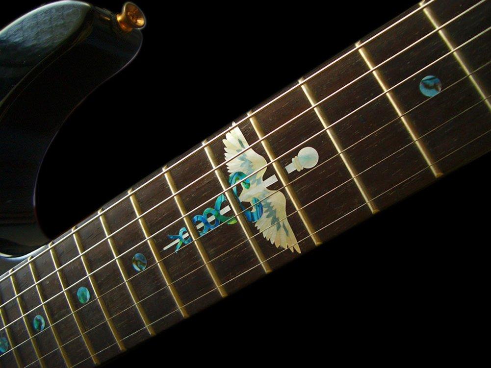 /caduc/ée Lot Marqueurs de palissandre incrustation Autocollant Stickers pour guitare/