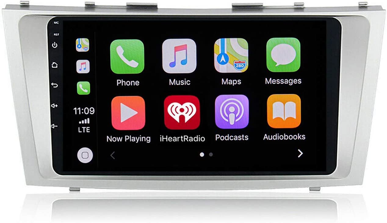 """ViaBecs 9"""" Andorid 10.0 Car Radio with Bluetooth 5.0 Support Toyota Camry 2007-2011 Head Unit Car Stereo with Apple Carplay Wireless Support GPS Navigation WiFi 1080P Video FM/AM 4G/64G DSP"""