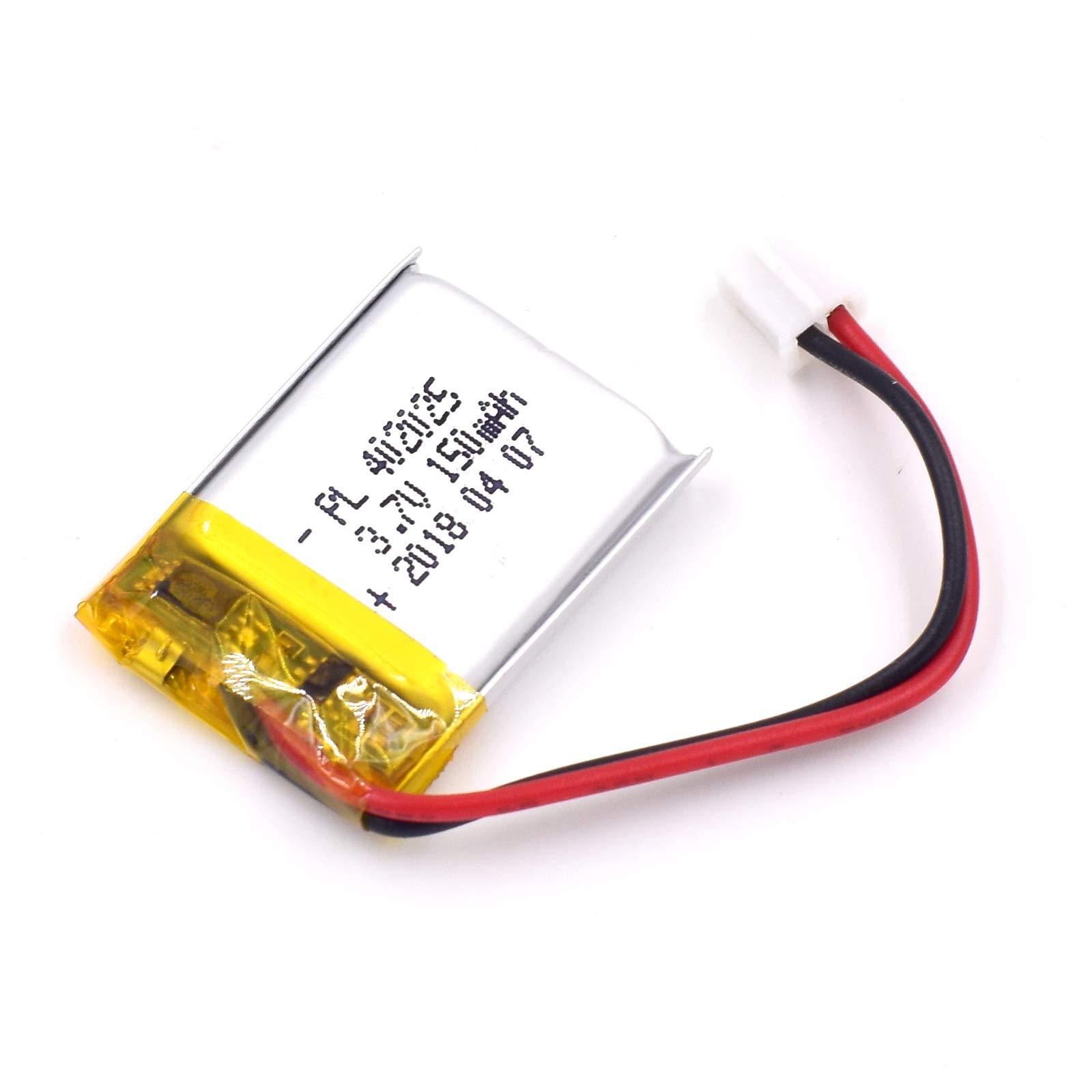 Bateria Lipo 3.7V 150mAh 402025 Recargable JST Conector