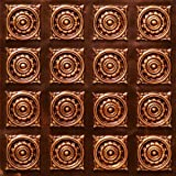 Very Cheap Decorative Plastic Ceiling Tiles LOWEST PRICE CEILING TILES BY US INC #128 Antique Copper Fire Rated Can Be Glue on Any Flat Surface.glue On,staple On,nail On,tape On!