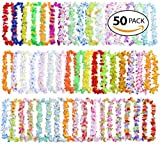 Hawaiian Leis Bulk Party Favors - King Luau 50 Count Hawaiian Leis Bulk for Luau Leis and Hawaiian Leis for Kids – Flower Leis Necklaces Party Favors
