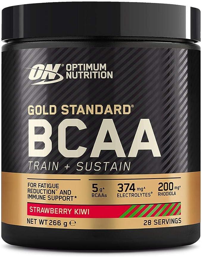 Optimum Nutrition Gold Standard BCAA Polvo, Suplementos Deportivos con Aminoacidos, Vitamina C, Zinc, Magnesio y Electrolitos, Fresa y Kiwi, 28 ...