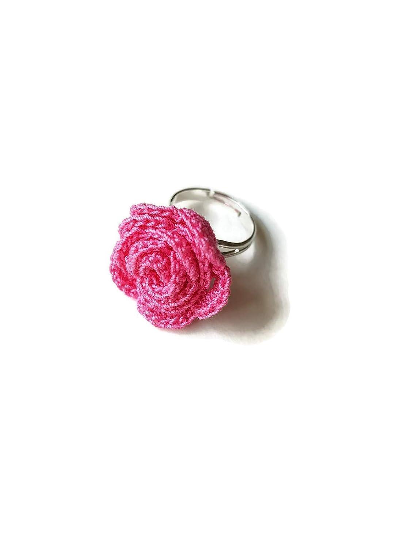 Anillo rosa regalo de joyería rosa para su novia novia