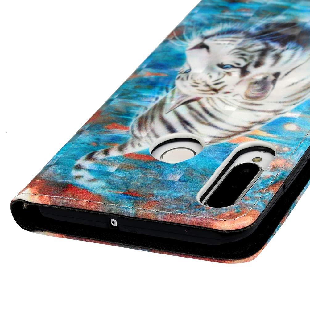 Handyh/ülle f/ür Huawei P30 Lite H/ülle Case Cover 3D Muster Leder Tasche Flipcase Schutzh/ülle Silikon Handytasche Skin St/änder Klapph/ülle Schale Bumper Magnetverschluss Brieftasche Holster Blume