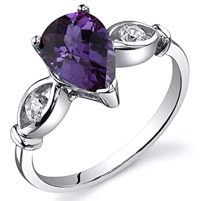 Revoni Solitaire Style 1.75 carats Amethyst Ring in Sterling Silver ACcLUH5