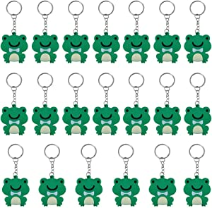 iMagitek 20 Pack Frog Keychains Decorations for Frog Themed Party Favors, Birthday Party Bag Fillers, Birthday Gifts