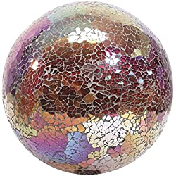 Very Cool Stuff GLMCR10 Mosaic Glass Gazing Ball, Copper/Red, 10-Inch (Discontinued by Manufacturer)