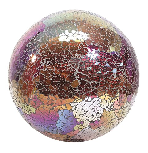 Very Cool Stuff GLMCR10 Mosaic Glass Gazing Ball, Copper/Red, 10-Inch (Discontinued by Manufacturer) - Gazing Dark In Glow Balls The