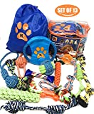 Dog Rope Toys -Dog Toys - Chew Toys for Puppy Small Dogs and Medium Dogs- Puppy Chew Toys - Dog Toy Pack - Set of 13 Chew Toys and Teething Toys with Bonus Storage Bag