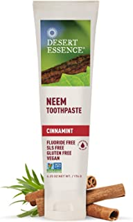 product image for Desert Essence Natural Neem Toothpaste - Cinnamint - 6.25 Oz - Pure Essential Oil - Baking Soda - Complete Oral Care - Sea Salt - Refreshing Taste - Promotes Buildup Reduction