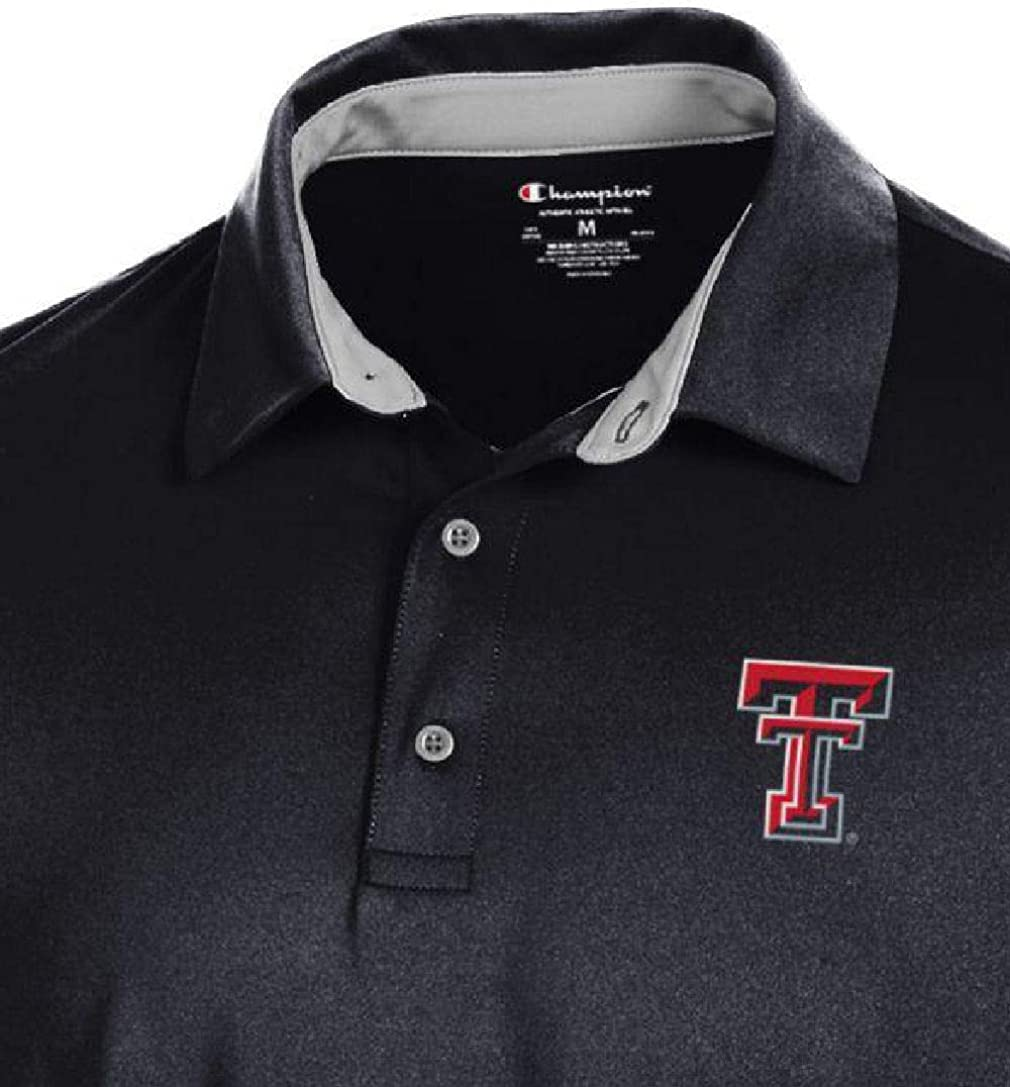 Large Gear for Sports Texas Tech Red Raiders Mens Black Blitz Synthetic Polo Shirt